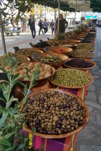 Olives in the Farmers Market (photo by Donna)